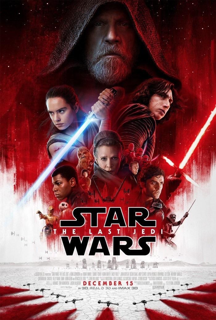 Poster ufficiale per Star Wars - Gli Ultimi Jedi